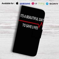 Grey's Anatomy Quotes Custom Leather Wallet iPhone 4/4S 5S/C 6/6S Plus 7| Samsung Galaxy S4 S5 S6 S7 Note 3 4 5| LG G2 G3 G4| Motorola Moto X X2 Nexus 6| Sony Z3 Z4 Mini| HTC ONE X M7 M8 M9 Case
