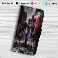 Gundam Guy Custom Leather Wallet iPhone 4/4S 5S/C 6/6S Plus 7  Samsung Galaxy S4 S5 S6 S7 Note 3 4 5  LG G2 G3 G4  Motorola Moto X X2 Nexus 6  Sony Z3 Z4 Mini  HTC ONE X M7 M8 M9 Case