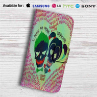Harley Quinn and Joker Suicide Squad Custom Leather Wallet iPhone 4/4S 5S/C 6/6S Plus 7| Samsung Galaxy S4 S5 S6 S7 Note 3 4 5| LG G2 G3 G4| Motorola Moto X X2 Nexus 6| Sony Z3 Z4 Mini| HTC ONE X M7 M8 M9 Case