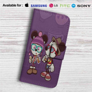 Hipster Mickey Mouse and Minnie Mouse Custom Leather Wallet iPhone 4/4S 5S/C 6/6S Plus 7| Samsung Galaxy S4 S5 S6 S7 Note 3 4 5| LG G2 G3 G4| Motorola Moto X X2 Nexus 6| Sony Z3 Z4 Mini| HTC ONE X M7 M8 M9 Case