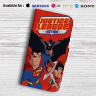Justice League Action Custom Leather Wallet iPhone 4/4S 5S/C 6/6S Plus 7| Samsung Galaxy S4 S5 S6 S7 Note 3 4 5| LG G2 G3 G4| Motorola Moto X X2 Nexus 6| Sony Z3 Z4 Mini| HTC ONE X M7 M8 M9 Case