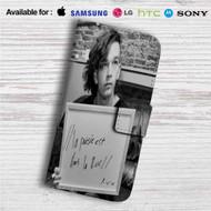 La Poésie Est Dans La Rue The 1975 Custom Leather Wallet iPhone 4/4S 5S/C 6/6S Plus 7  Samsung Galaxy S4 S5 S6 S7 Note 3 4 5  LG G2 G3 G4  Motorola Moto X X2 Nexus 6  Sony Z3 Z4 Mini  HTC ONE X M7 M8 M9 Case