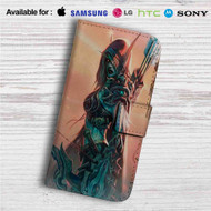 Sylvanas Queen of The Forsaken Custom Leather Wallet iPhone 4/4S 5S/C 6/6S Plus 7| Samsung Galaxy S4 S5 S6 S7 Note 3 4 5| LG G2 G3 G4| Motorola Moto X X2 Nexus 6| Sony Z3 Z4 Mini| HTC ONE X M7 M8 M9 Case