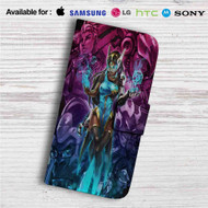 Symmetra Overwatch Custom Leather Wallet iPhone 4/4S 5S/C 6/6S Plus 7| Samsung Galaxy S4 S5 S6 S7 Note 3 4 5| LG G2 G3 G4| Motorola Moto X X2 Nexus 6| Sony Z3 Z4 Mini| HTC ONE X M7 M8 M9 Case