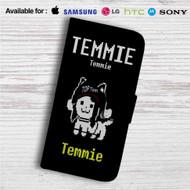Temmie Undertale Custom Leather Wallet iPhone 4/4S 5S/C 6/6S Plus 7| Samsung Galaxy S4 S5 S6 S7 Note 3 4 5| LG G2 G3 G4| Motorola Moto X X2 Nexus 6| Sony Z3 Z4 Mini| HTC ONE X M7 M8 M9 Case