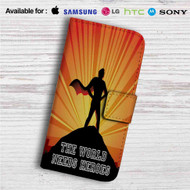 The World Needs Heroes Overwatch Custom Leather Wallet iPhone 4/4S 5S/C 6/6S Plus 7| Samsung Galaxy S4 S5 S6 S7 Note 3 4 5| LG G2 G3 G4| Motorola Moto X X2 Nexus 6| Sony Z3 Z4 Mini| HTC ONE X M7 M8 M9 Case