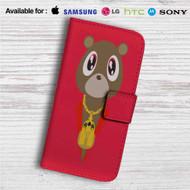 Yeezy Bear Kanye West Custom Leather Wallet iPhone 4/4S 5S/C 6/6S Plus 7| Samsung Galaxy S4 S5 S6 S7 Note 3 4 5| LG G2 G3 G4| Motorola Moto X X2 Nexus 6| Sony Z3 Z4 Mini| HTC ONE X M7 M8 M9 Case