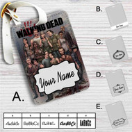The Walking Dead All Characters With Zombie Custom Leather Luggage Tag