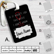 Twenty One Pilots Quotes Custom Leather Luggage Tag
