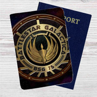 Battlestar Galactica Custom Leather Passport Wallet Case Cover
