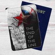 Bucky and Captain America Quotes Custom Leather Passport Wallet Case Cover