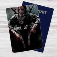 Carol of Duty The Walking Dead Custom Leather Passport Wallet Case Cover