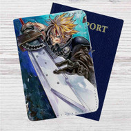 Cloud Strife Final Fantasy 7 Custom Leather Passport Wallet Case Cover