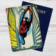 Comic Spiderman Custom Leather Passport Wallet Case Cover