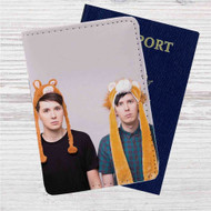 Dan And Phil Small Llama Custom Leather Passport Wallet Case Cover