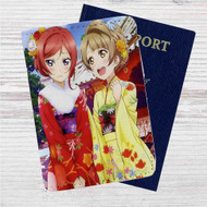 Love Live Nishikino Maki Minami Kotori Custom Leather Passport Wallet Case Cover