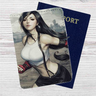 Tifa Lockhart Final Fantasy VII Custom Leather Passport Wallet Case Cover