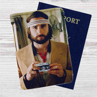 Wes Anderson Custom Leather Passport Wallet Case Cover