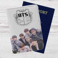 Bangtan Boys BTS Custom Leather Passport Wallet Case Cover
