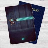 Dead Space Megaman Custom Leather Passport Wallet Case Cover