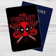 Deadpool Wade Wilson Custom Leather Passport Wallet Case Cover