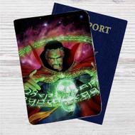 Doctor Strange Auction Marvel Custom Leather Passport Wallet Case Cover