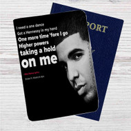 Drake Feat WizKid and Kyla One Dance Custom Leather Passport Wallet Case Cover