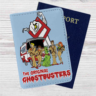 Ghostbusters Scooby Doo Custom Leather Passport Wallet Case Cover
