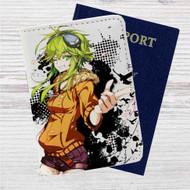 Gumi Jinsei Reset Button Custom Leather Passport Wallet Case Cover