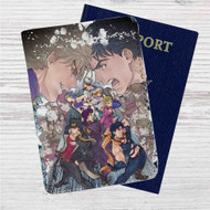 JoJo's Bizarre Adventure Custom Leather Passport Wallet Case Cover