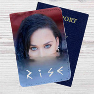 Katy Perry Rise Custom Leather Passport Wallet Case Cover