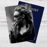 Lexa The 100 Custom Leather Passport Wallet Case Cover