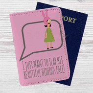 Louise Belcher Quotes Custom Leather Passport Wallet Case Cover