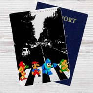 Mario Zelda Megaman Abbey Road Custom Leather Passport Wallet Case Cover