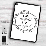 "Wait For It Hamilton I am Inimitable iPad 2 3 4 iPad Mini 1 2 3 4 iPad Air 1 2 | Samsung Galaxy Tab 10.1"" Tab 2 7"" Tab 3 7"" Tab 3 8"" Tab 4 7"" Case"