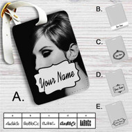 Barbara Joan Streisand Custom Leather Luggage Tag