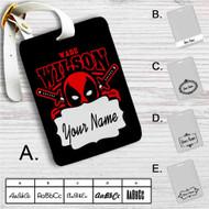 Deadpool Wade Wilson Custom Leather Luggage Tag