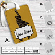 Hamilton King of Broadway Custom Leather Luggage Tag