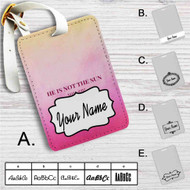 He is Not The Sun Grey's Anatomy Custom Leather Luggage Tag