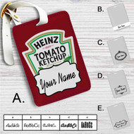 Heinz Tomato Ketchup Custom Leather Luggage Tag