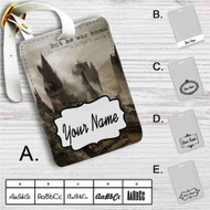 Hogwarts But He Was Home Custom Leather Luggage Tag