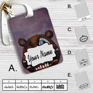 Kanye West Dark Bear Custom Leather Luggage Tag