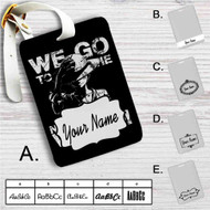 Luffy We Go to The New World Custom Leather Luggage Tag