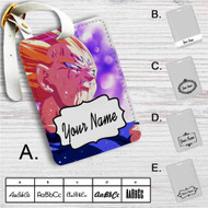 Majin Vegeta Dragon Ball Custom Leather Luggage Tag