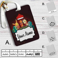 Pokemon Playing Card Custom Leather Luggage Tag