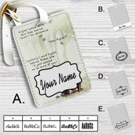 Pooh and Piglet Quotes Disney Custom Leather Luggage Tag