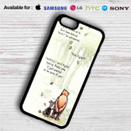 Pooh and Piglet Quotes Disney iPhone 4/4S 5 S/C/SE 6/6S Plus 7| Samsung Galaxy S4 S5 S6 S7 NOTE 3 4 5| LG G2 G3 G4| MOTOROLA MOTO X X2 NEXUS 6| SONY Z3 Z4 MINI| HTC ONE X M7 M8 M9 M8 MINI CASE