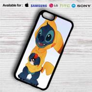 Stitch as Pikachu Pokemon iPhone 4/4S 5 S/C/SE 6/6S Plus 7| Samsung Galaxy S4 S5 S6 S7 NOTE 3 4 5| LG G2 G3 G4| MOTOROLA MOTO X X2 NEXUS 6| SONY Z3 Z4 MINI| HTC ONE X M7 M8 M9 M8 MINI CASE