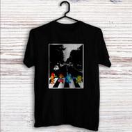 Mario Zelda Megaman Abbey Road Custom T Shirt Tank Top Men and Woman