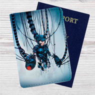MegaMan Rebuild Custom Leather Passport Wallet Case Cover